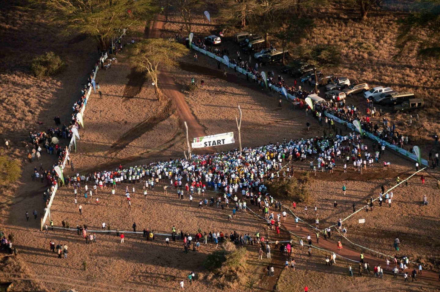 Safaricom Marathon Aerial of Start