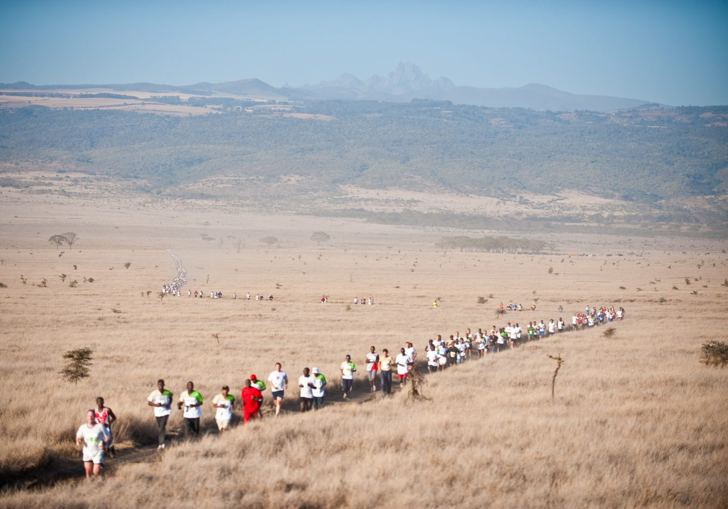 Safaricom Marathon Runners and Mount Kenya
