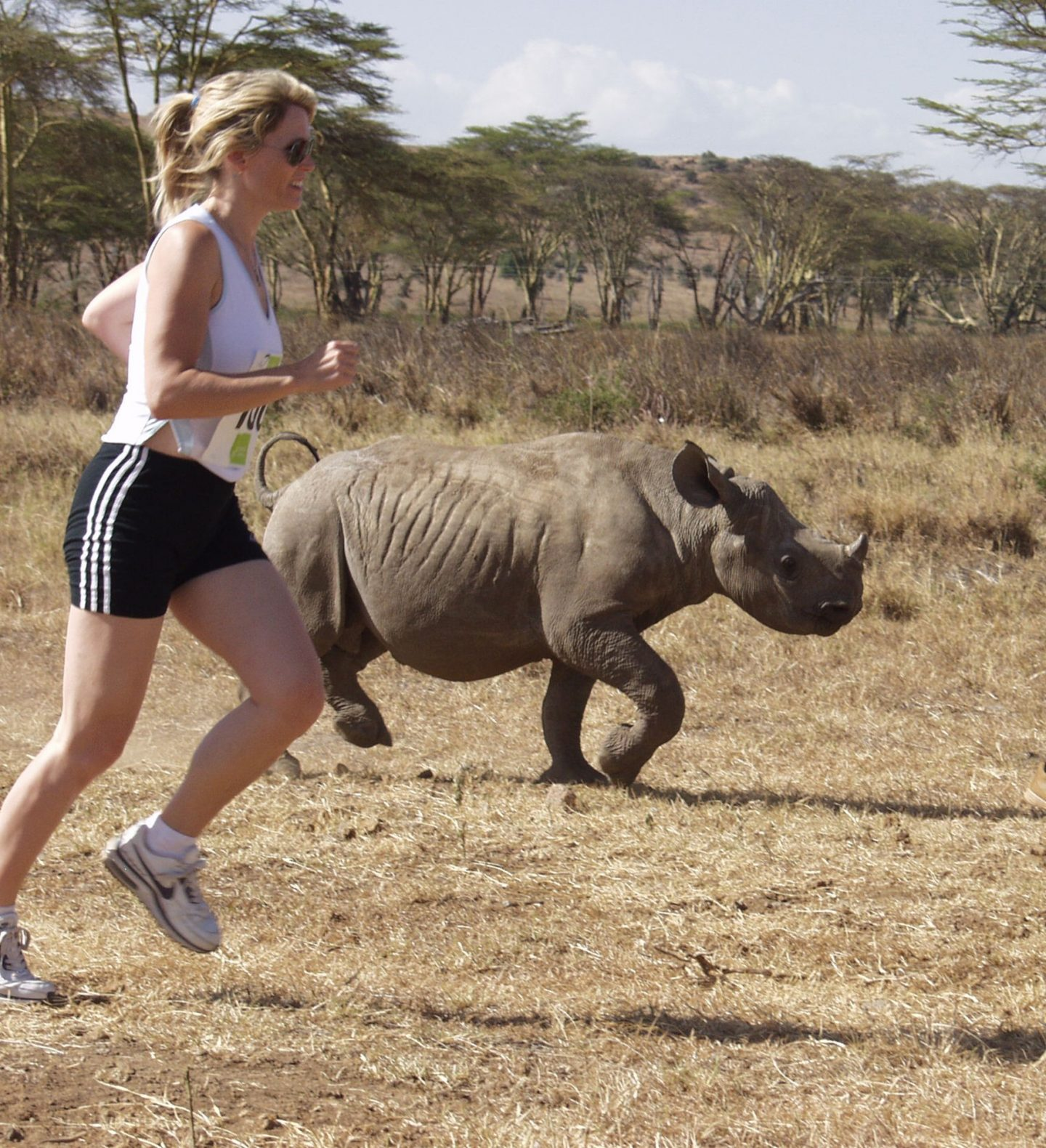 Safaricom Marathon Runner and Rhino
