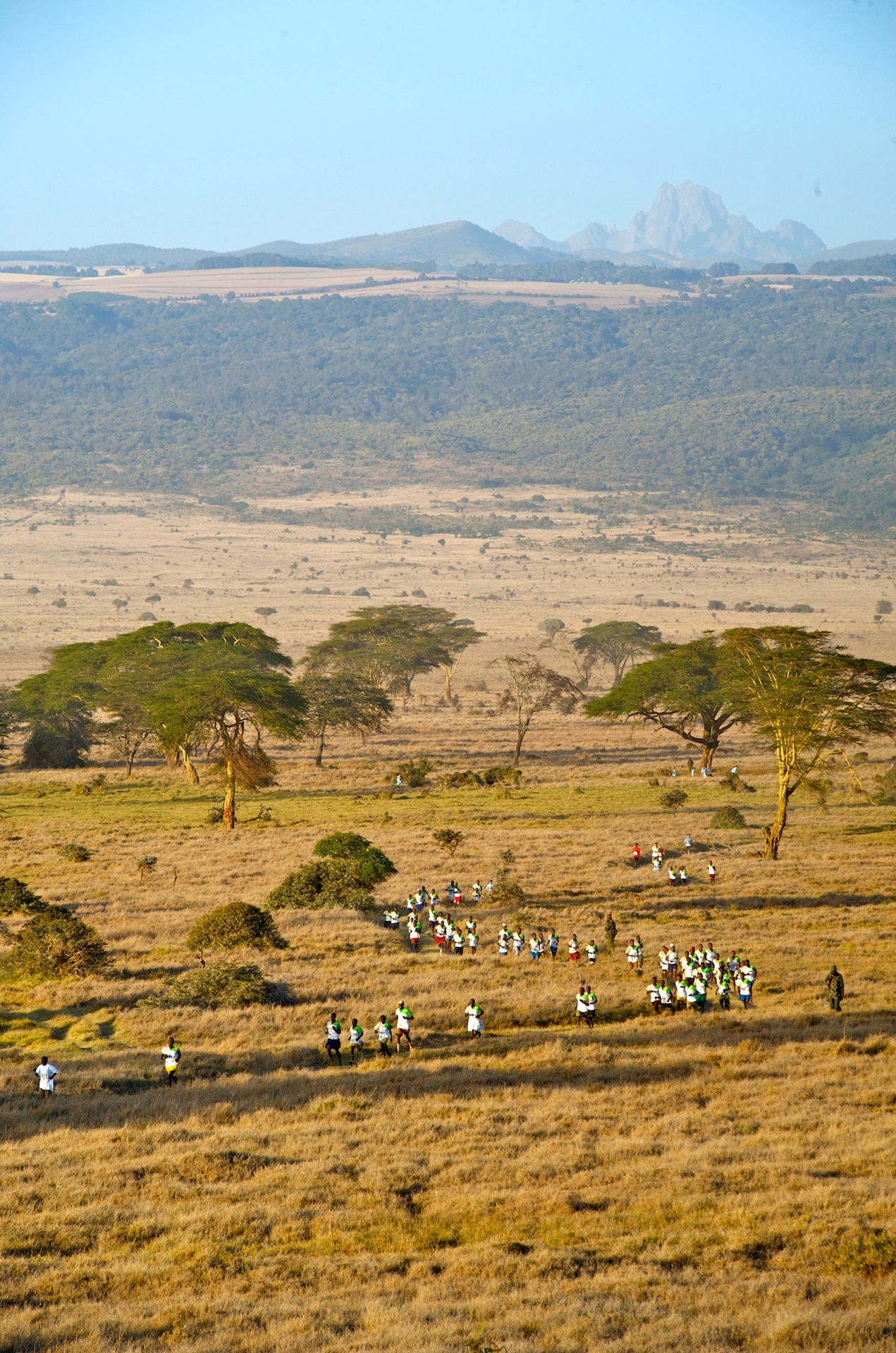 Safaricom Marathon Runners and Mountain