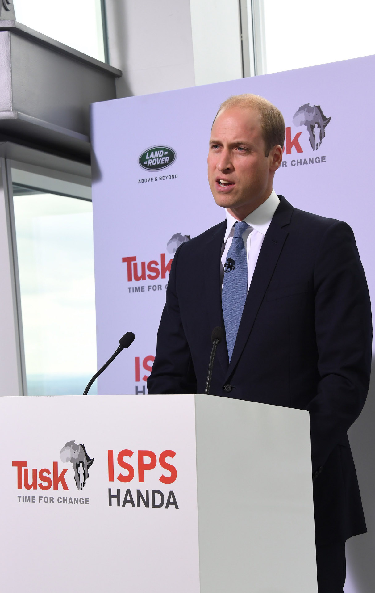 Prince William at The View from The Shard 'Time for Change' event on September 22, 2016 in London, England.