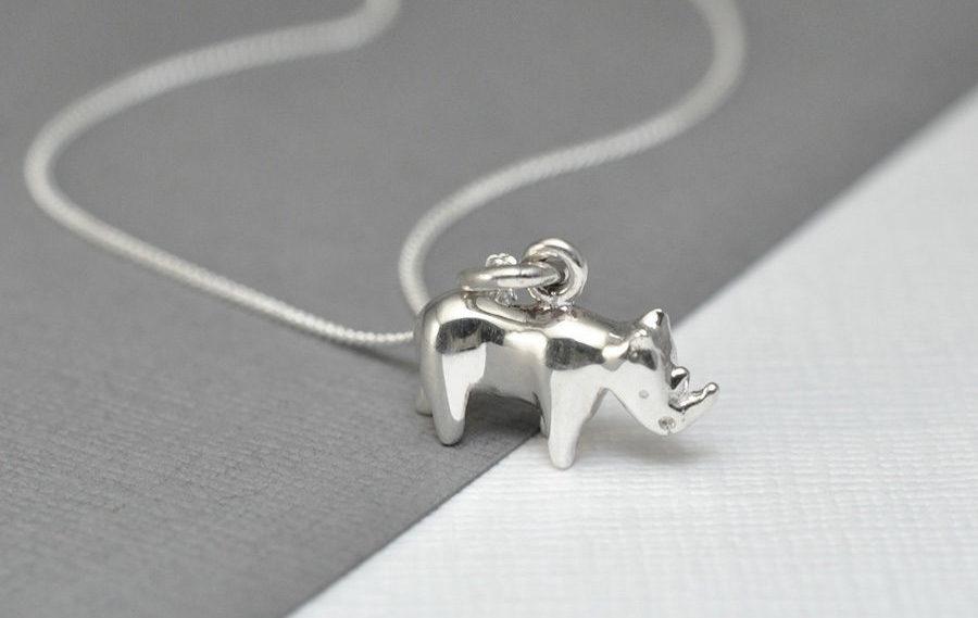 Asimi Silver Rhino Pendant