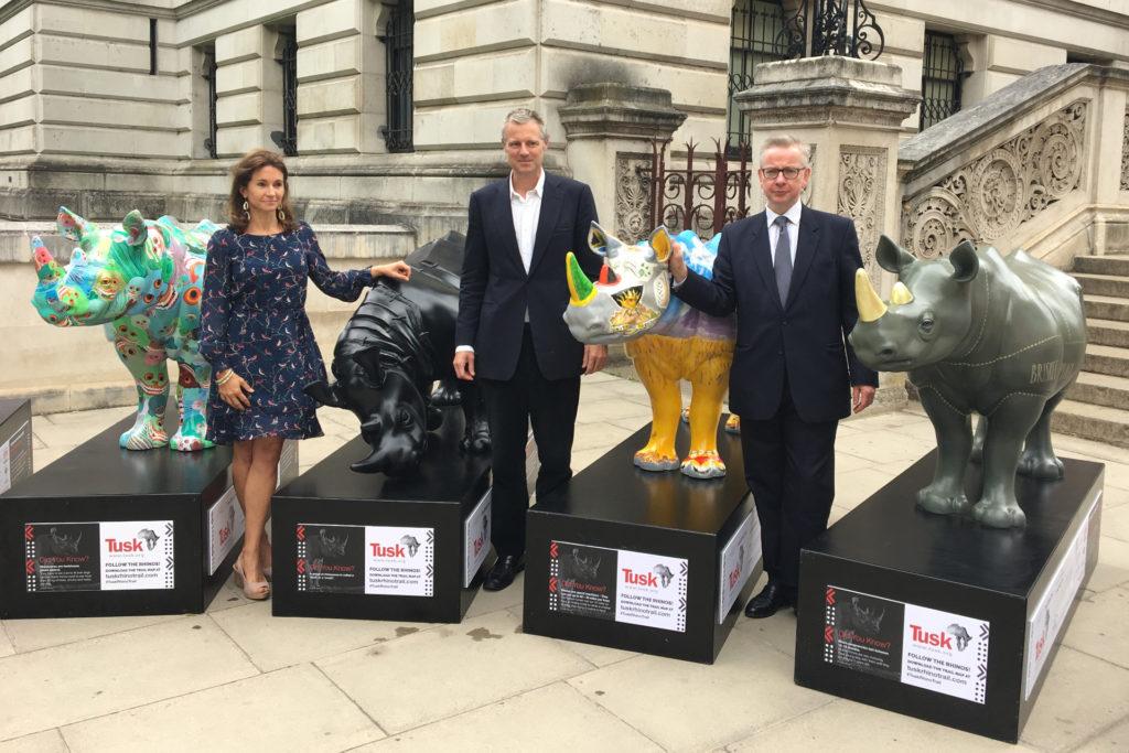UK Environment Secretary Joins the Tusk Rhino Trail