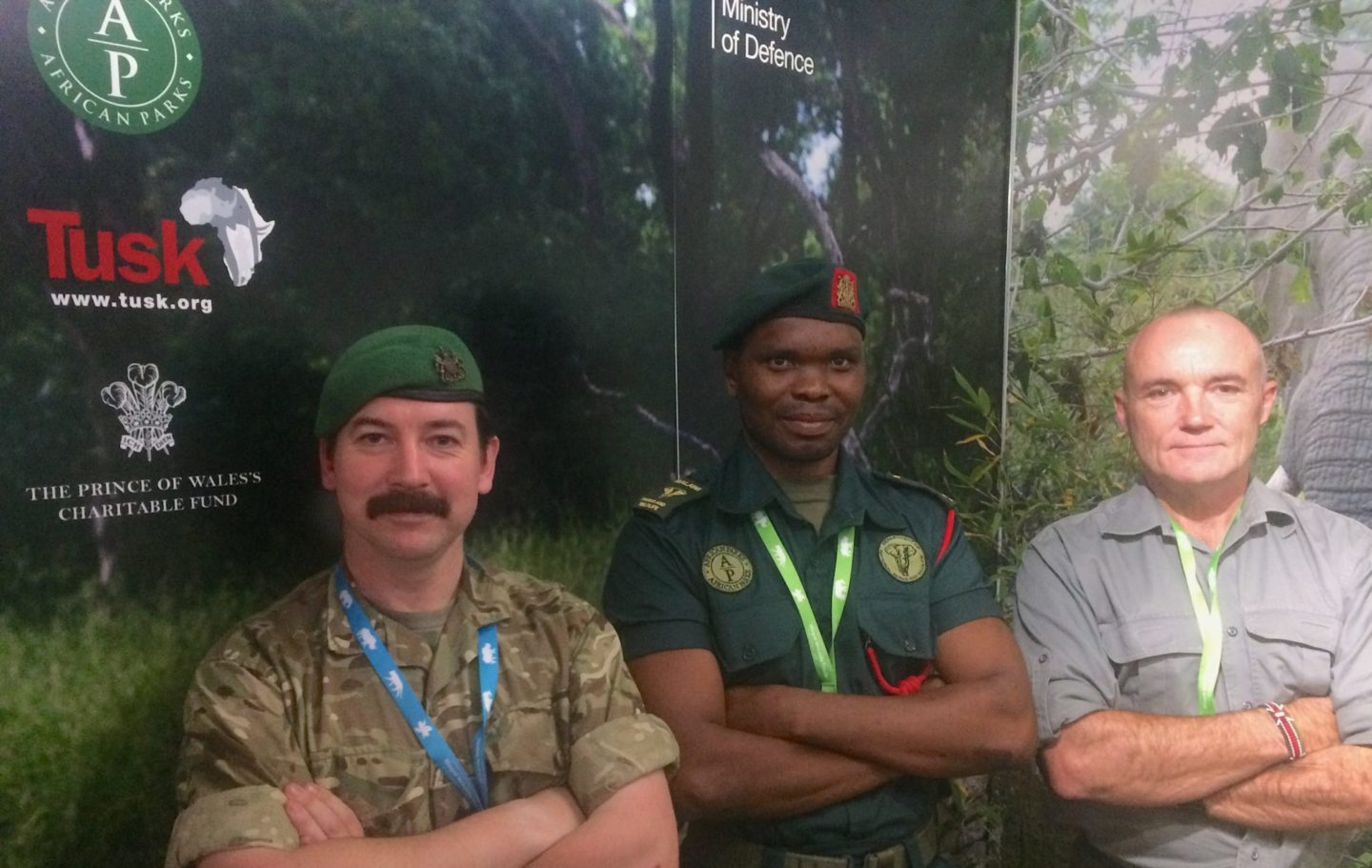 Counter Poaching Leaders Captain Luke Townsend, Martin Awazi (African Parks Malawi), and Simon Leak