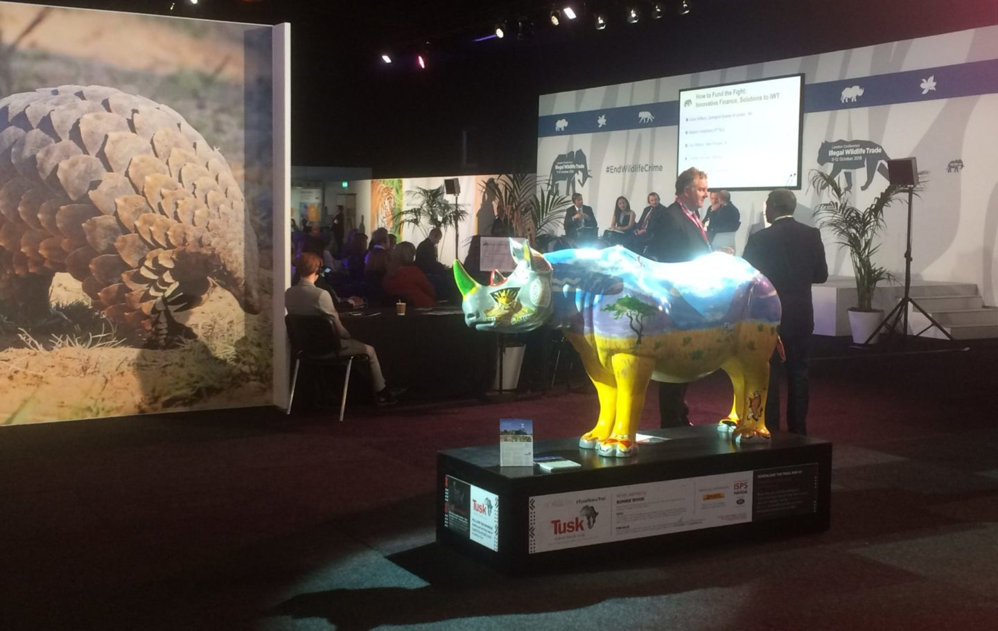 The Tusk Rhino Trail continued at the IWT Conference, including Ronnie Wood's Spike