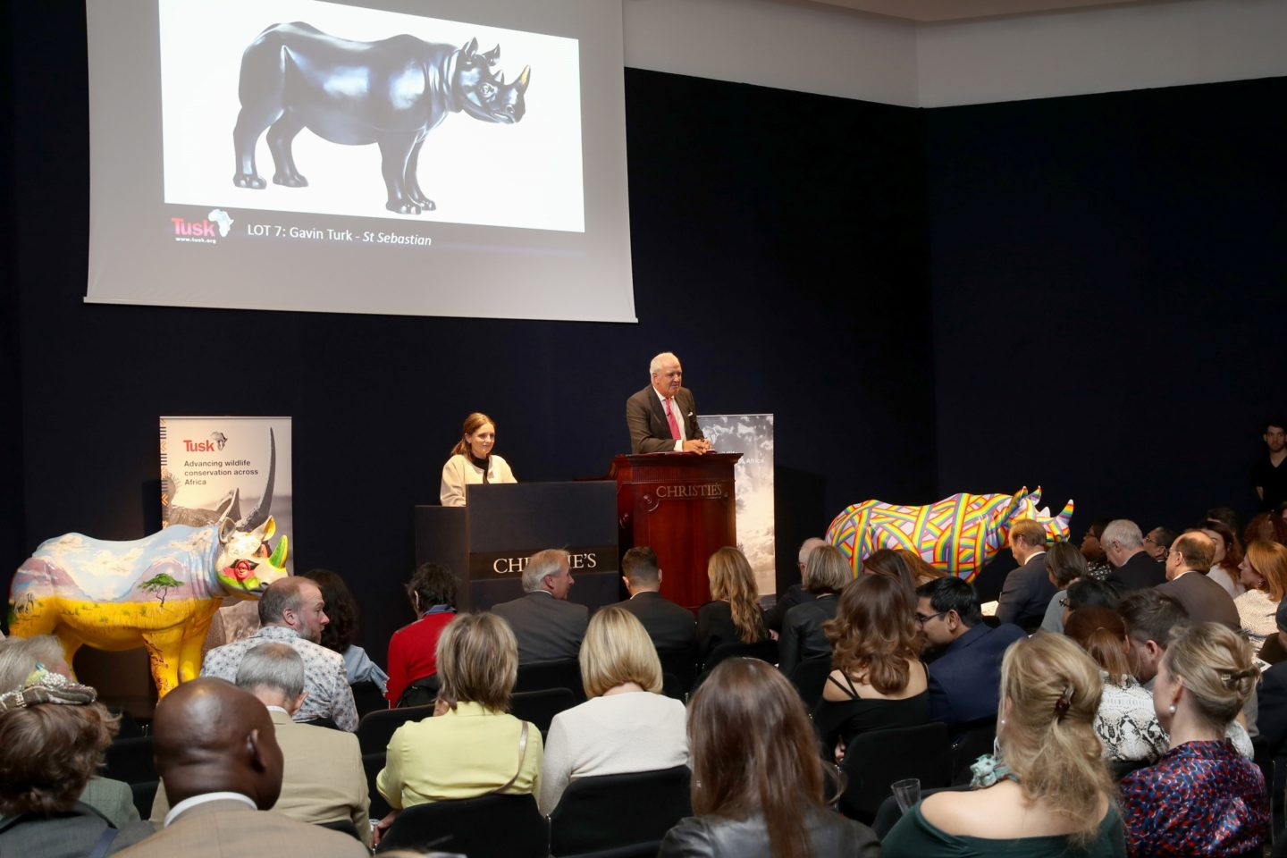 Tusk Rhino Trail Auction at Christies
