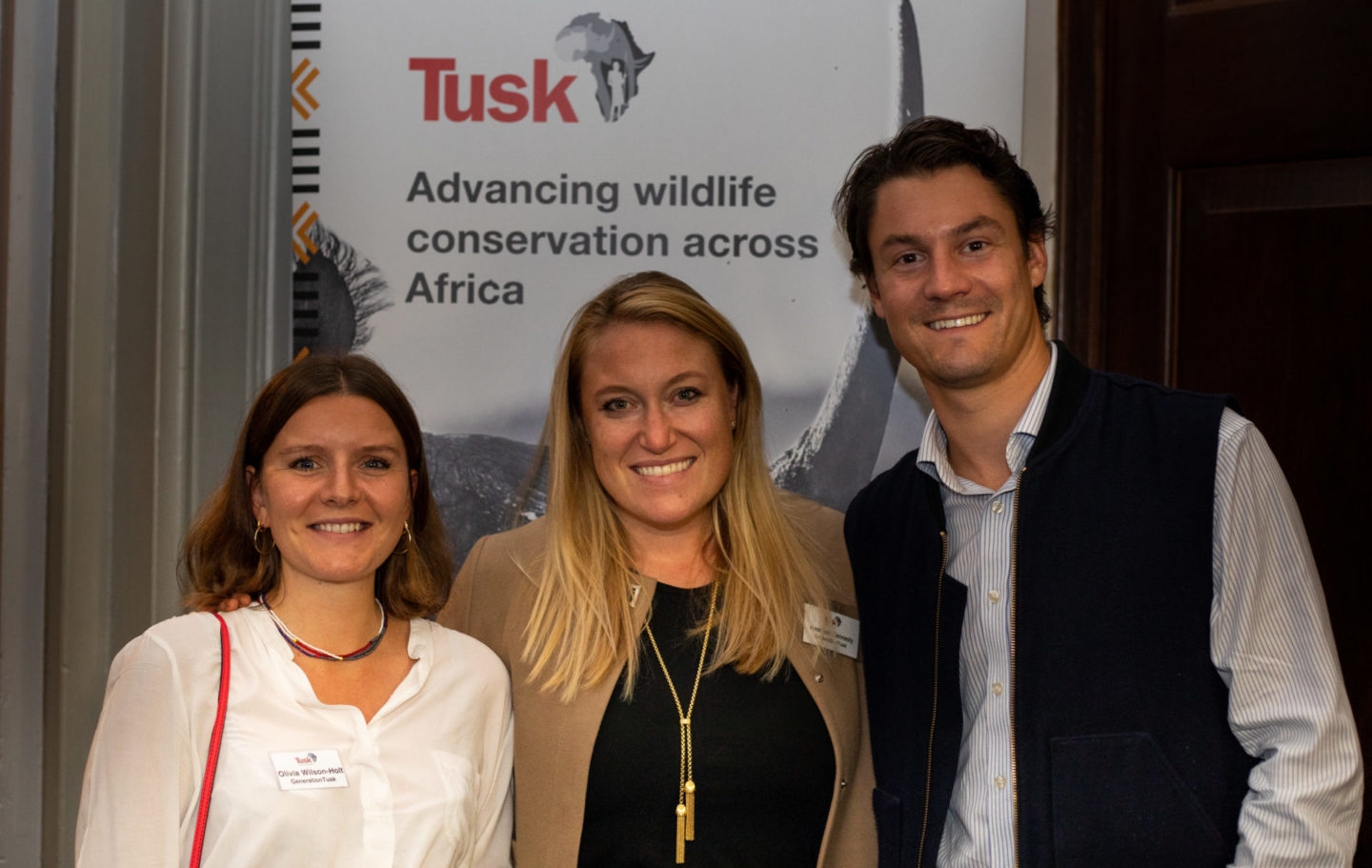 Liv Wilson-Holt, Heather Kennedy and Harry Legge from the GenerationTusk Committee