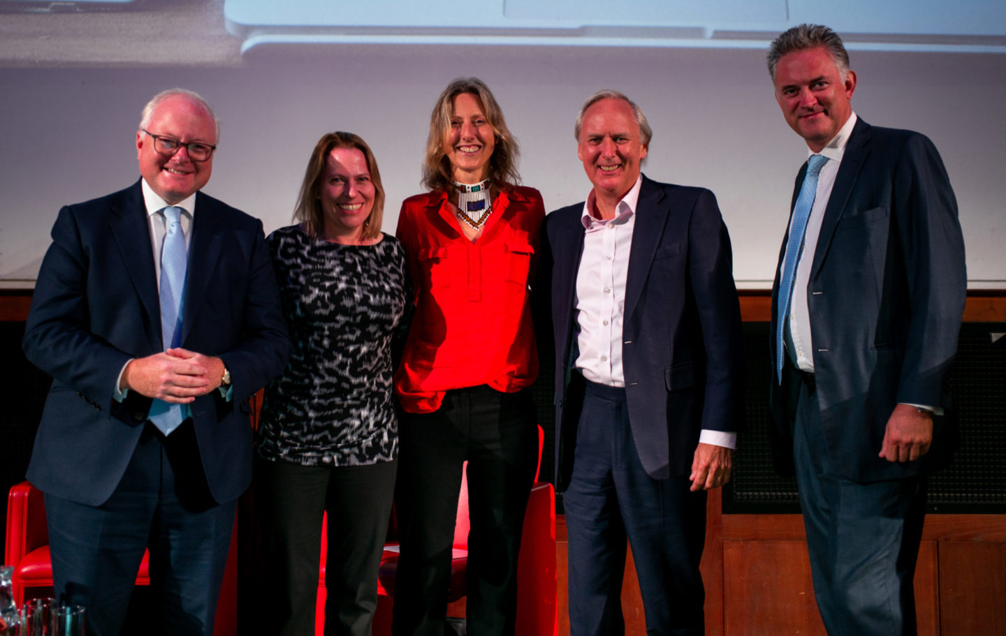 L-R: Stephen Watson (Tusk Chairman), Amy Dickman, Alayne Cotterill, Charlie Mayhew (Tusk CEO) and Jasper Berens (Artemis Head of Distribution)