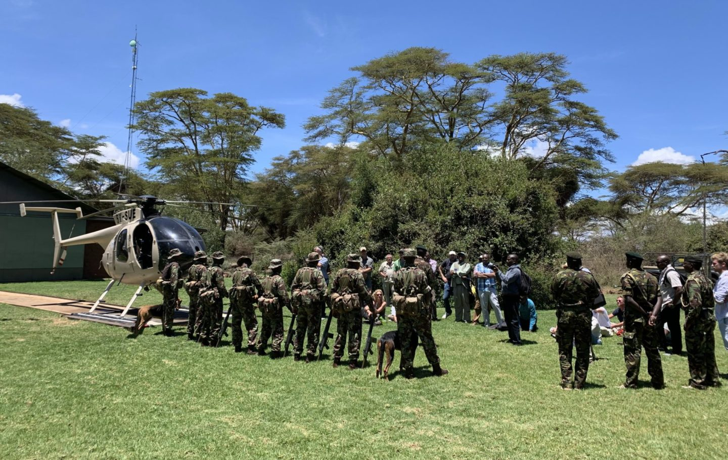 Symposium participants visiting the Lewa Wildlife Conservancy