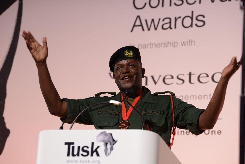 Tusk Wildlife Ranger Award winner Benson Kanyembo