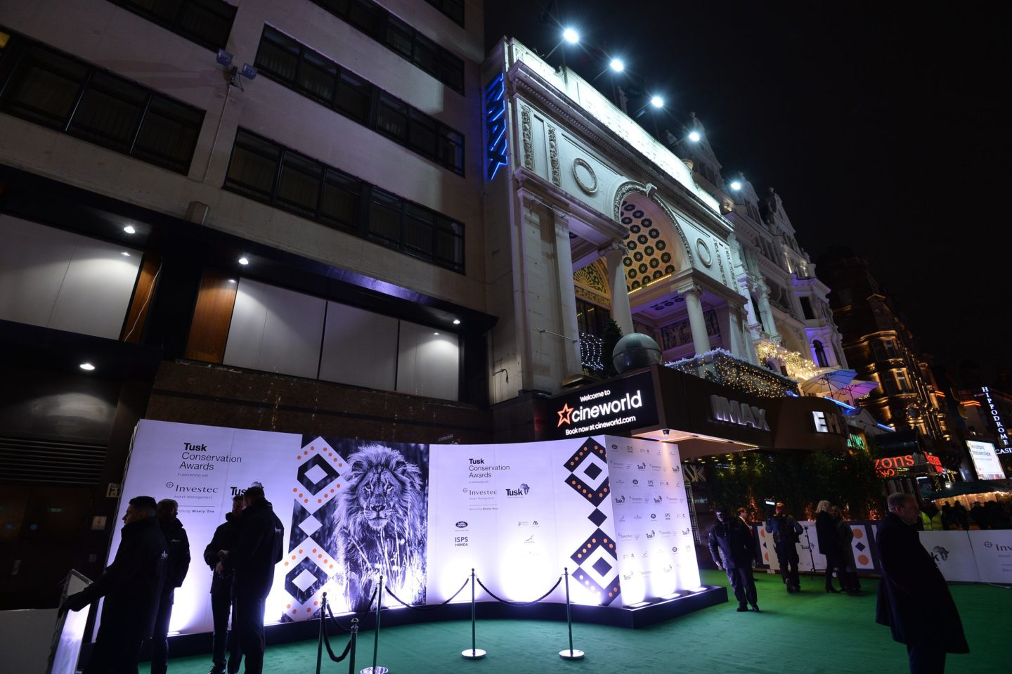 The ceremony was held at the Empire Cinema, Leicester Square