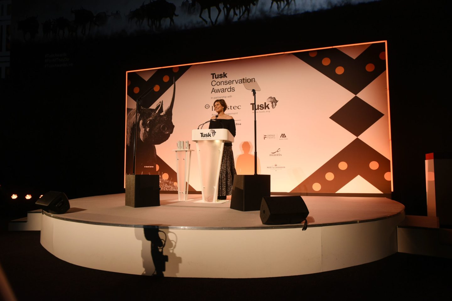 Tusk Ambassador Kate Silverton hosting the Awards