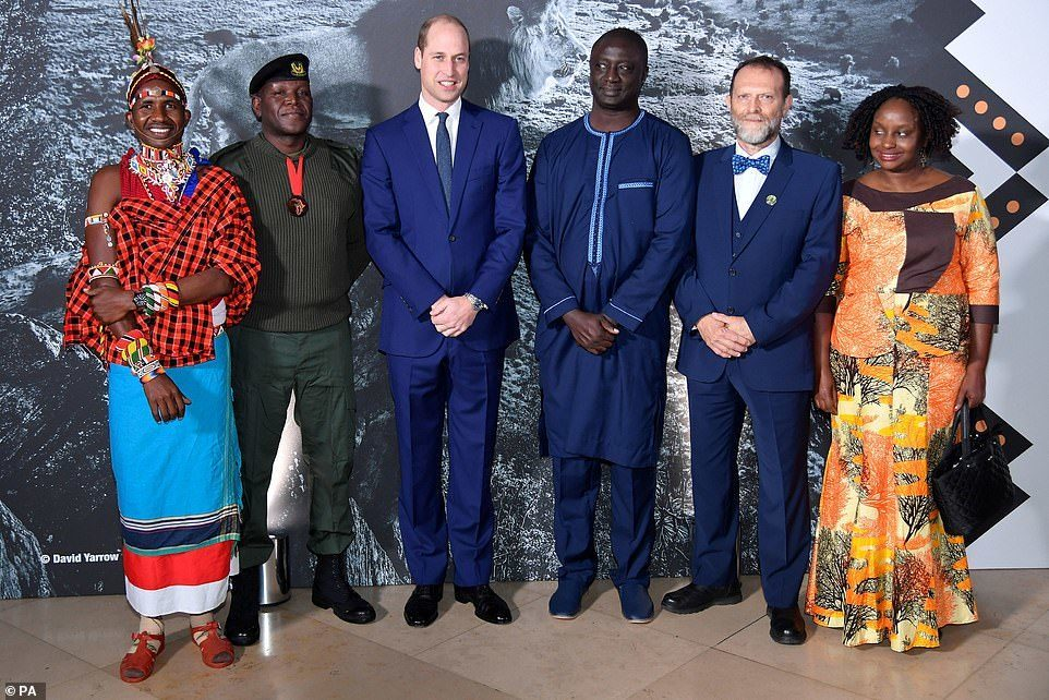 HRH The Duke of Cambridge with the 2019 Tusk Conservation Awards Finalists