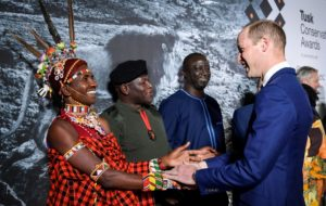 HRH The Duke of Cambridge greets the 2019 Tusk Conservation Awards Finalists