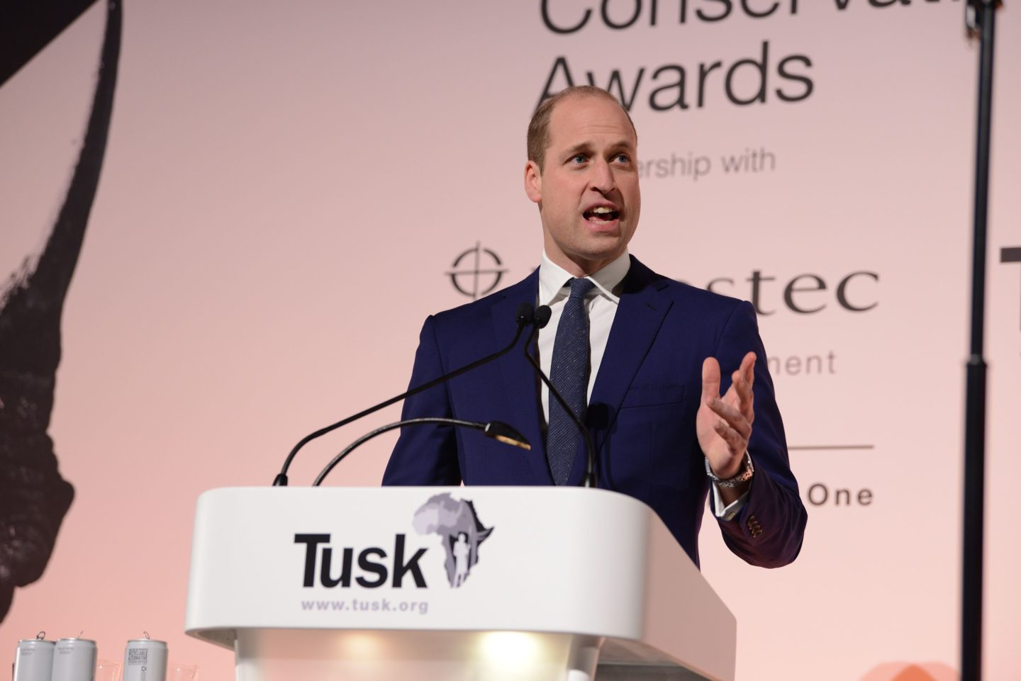 Prince William paying tribute to the finalists