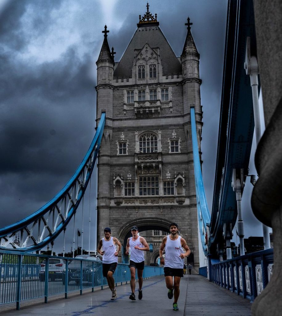 GenerationTusk runners crossing London Bridge