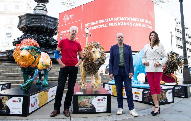 Artists David Mach, Gavin Turk and Hannah Shergold at the Tusk Lion Trail Launch