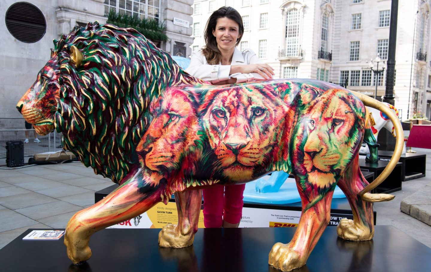 Hannah Shergold with her Lion 'Brian the Lion'